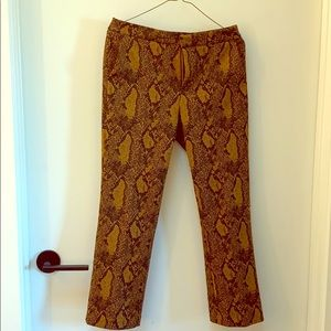 Joie snake skin pants size 6 cropped  2019 fall